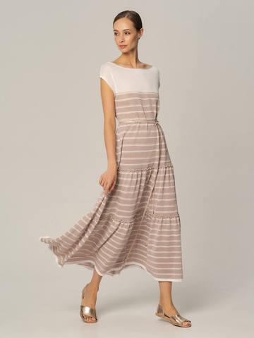 Женское платье лавандового цвета из вискозы - фото 2