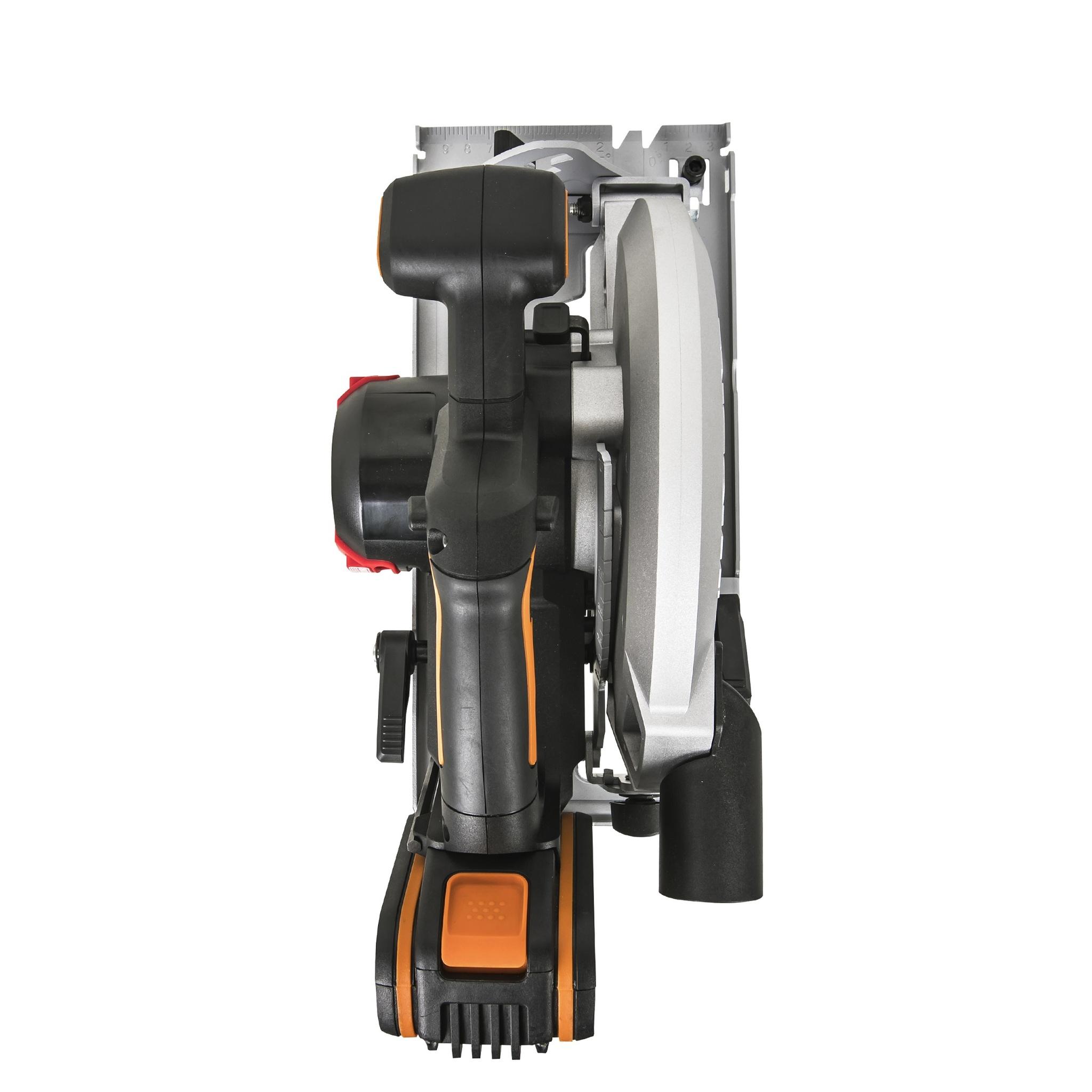 Циркулярная пила аккумуляторная бесщеточная WORX WX520, 20В 190 мм, 4Ач х1, ЗУ 2А, сумка, коробка