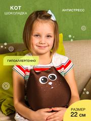 Подушка-игрушка антистресс Gekoko «Кот Шоколадка» 1