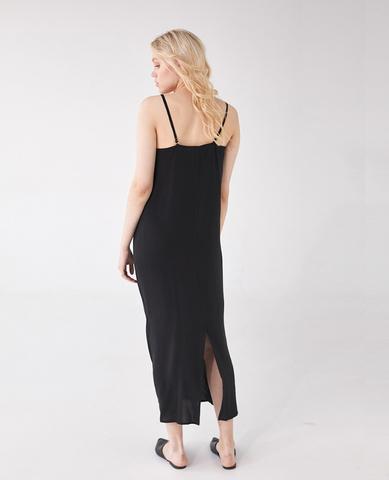 Платье- комбинация, цвет черный