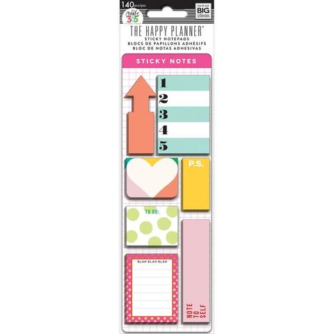 Закладки-стикеры Create 365 Happy Planner Sticky Notes  -Brights -140шт