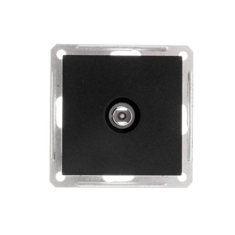 TV антенна коннектор. Цвет Чёрный бархат. Schneider Electric Wessen 59. RTS-151-6-86