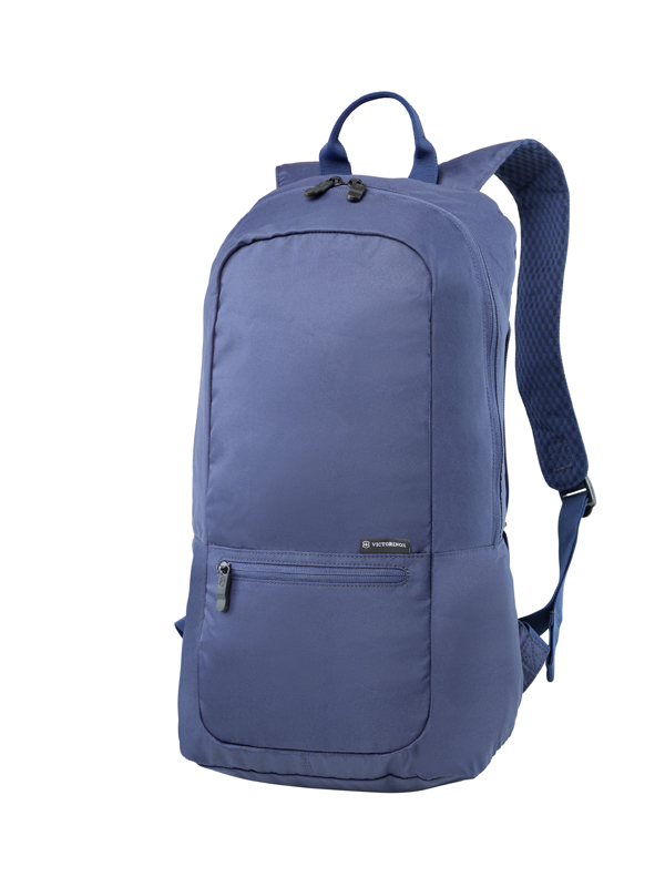 ЛЕГКИЙ СКЛАДНОЙ РЮКЗАК VICTORINOX Packable Backpack, синий, полиэстер 150D, 25x14x46 см, 16 л (601801) | Wenger-Victorinox.Ru