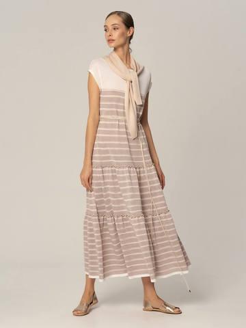 Женское платье лавандового цвета из вискозы - фото 4