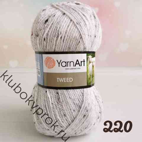 YARNART TWEED 220, Белый