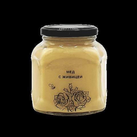 Мёд натуральный с живицей, 500 гр