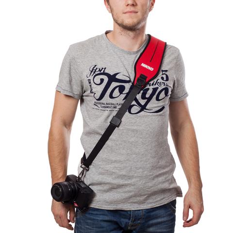 Плечевой ремень для фотоаппарата Caden (RED)
