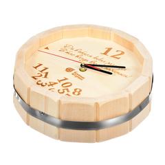 Часы кварцевые в форме бочки «В бане всегда время париться!» 27х8 см
