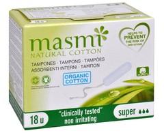 Masmi Natural cotton гигиенические тампоны Super из органического хлопка 18 шт