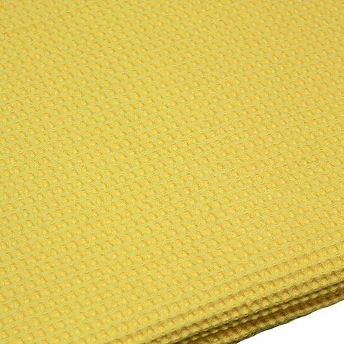 Парео вафельное цвет желтый