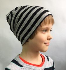 Детская полосатая шапочка из вискозного трикотажа