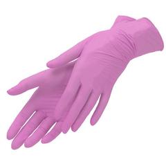 Nitrile, Перчатки нитриловые, неопудренные (розовые) XS 100 штук