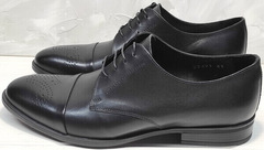 Мужские черные туфли на свадьбу Ikoc 2249-1 Black Leather.