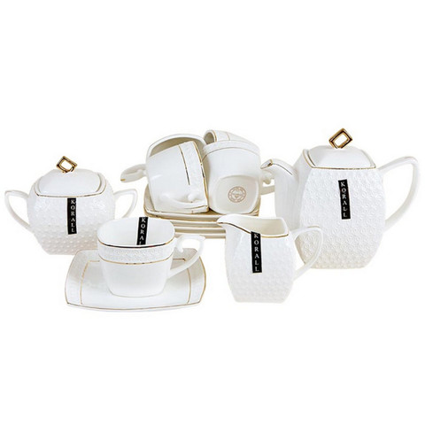 Сервиз чайный Снежная Королева квадр на 6пер15пред(827518)LQT/СРТ 0115A