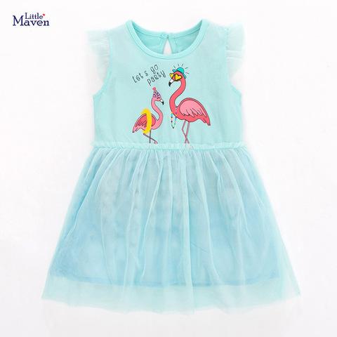 Платье для девочки Little Maven Фламинго