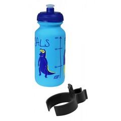 Велобутылка FORCE, ZOO с держателем 0,3л, детский принт, синяя