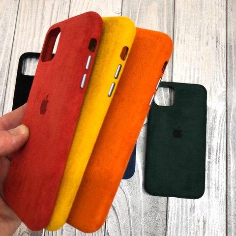 Чехол iPhone 11 Pro Max Alcantara case full /red/