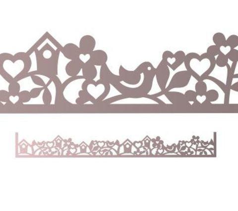 Трафарет для шоколада №1969 - Весенний