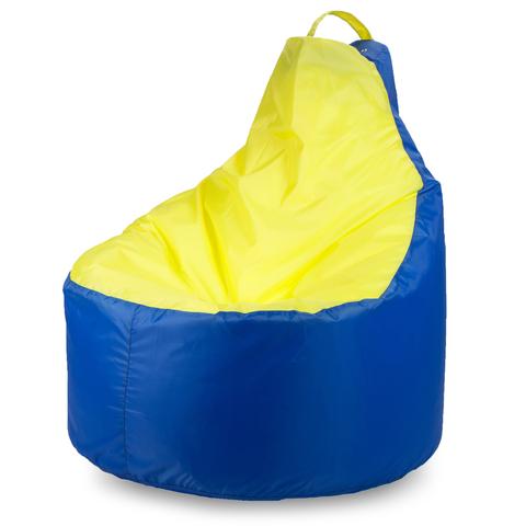 Пуффбери Внешний чехол Кресло-мешок комфорт  145x90x90, Оксфорд Синий и желтый