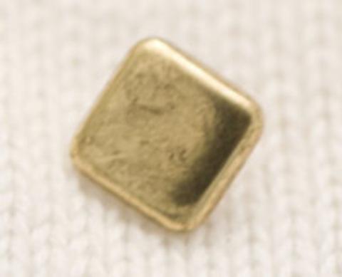 Пуговица золотого цвета, квадратная, 8 мм