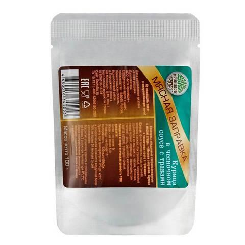 Мясная заправка Курица в чесночном соусе с травами 'Кронидов', 100г