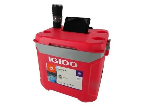 Изотермический контейнер (термобокс) Igloo Latitude 60 QT Roller (56 л.), красный