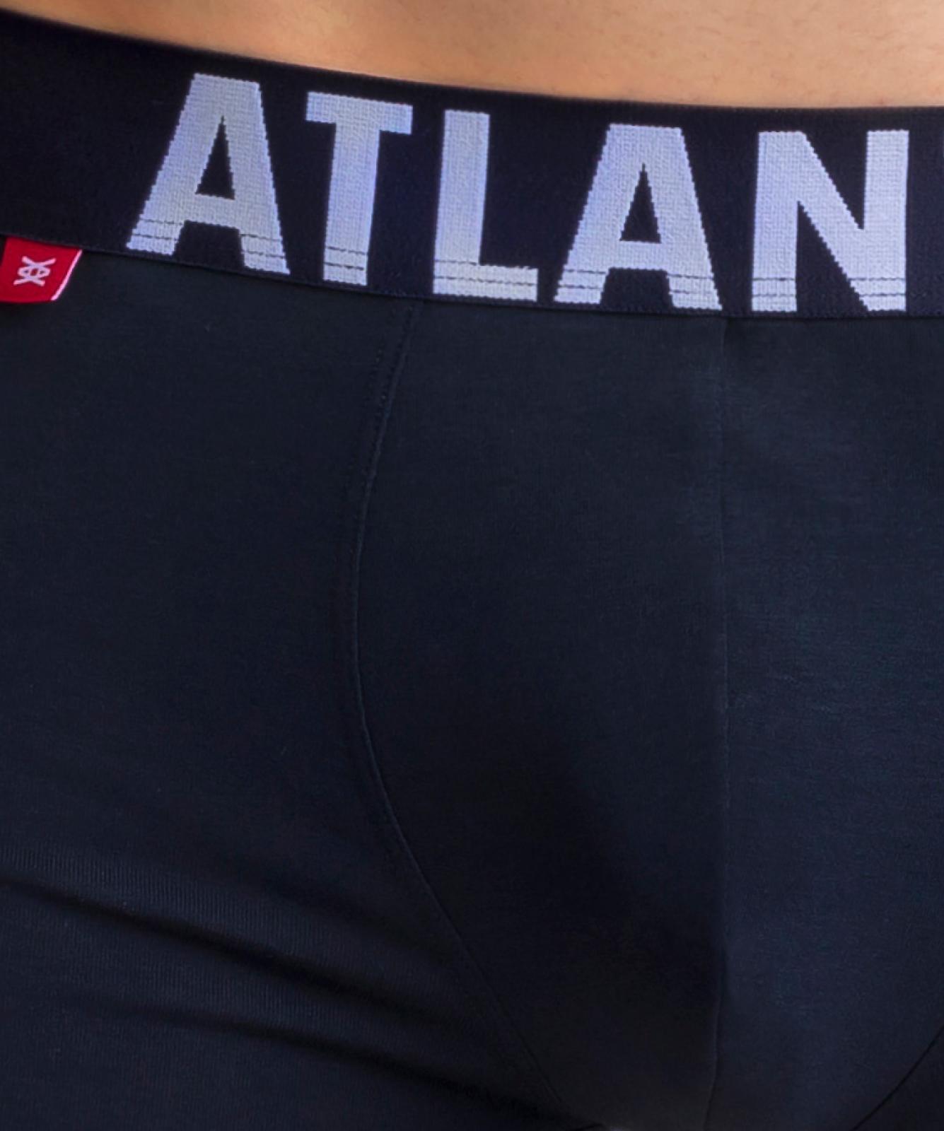 Мужские трусы шорты Atlantic, набор из 3 шт., хлопок, темно-синие, 3SMH-003
