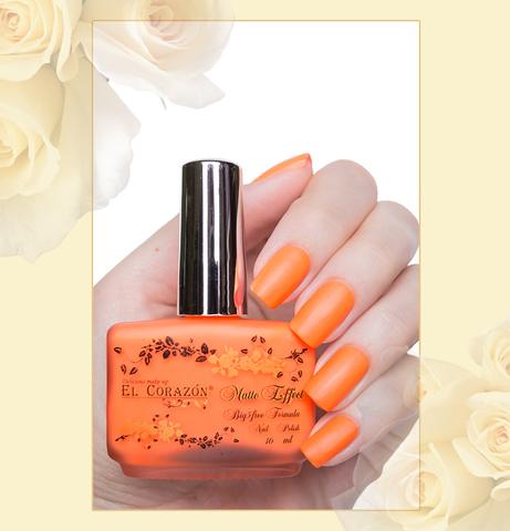 El Corazon Лак Matte Effect т.142 neon оранжевый