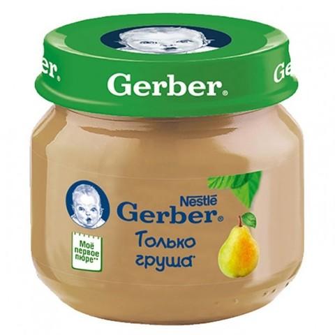 Gerber® Фруктовое пюре груша 80гр