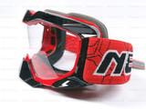Кроссовые мото очки NENKI, красный-чёрный