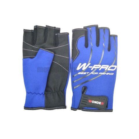 Перчатки Wonder синие без пальцев WG-FGL / размер XL