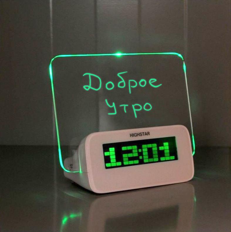 Распродажа Светящийся LED будильник с доской для записей (зеленая подсветка) 706ab13c3b078ca738cb8d8fe6ecb265.jpg