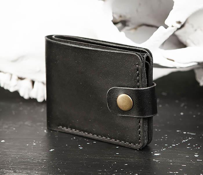 WB182-1 Мужское портмоне ручной работы с монетницей фото 02