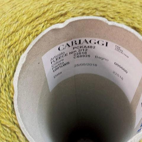 Кашемир 2/12 CARIAGGI /FLECE зеленая горчица