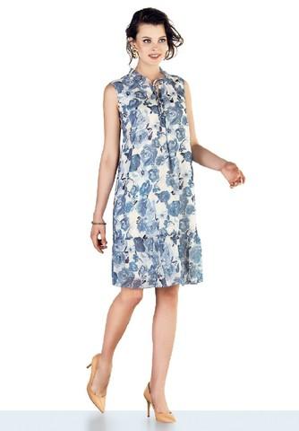 Платье для беременных 10208 голубой