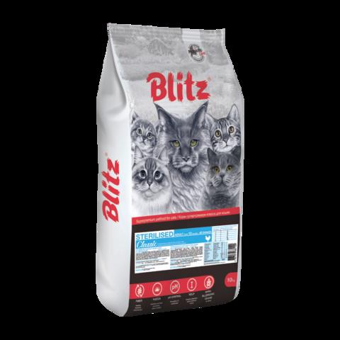 Blitz Classic Сухой корм для стерилизованных кошек с курицей