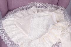 Крестильное полотенце Любовь (молоко)