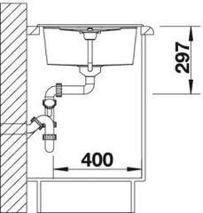 Мойка Blanco Metra 45S Тёмная скала - схема