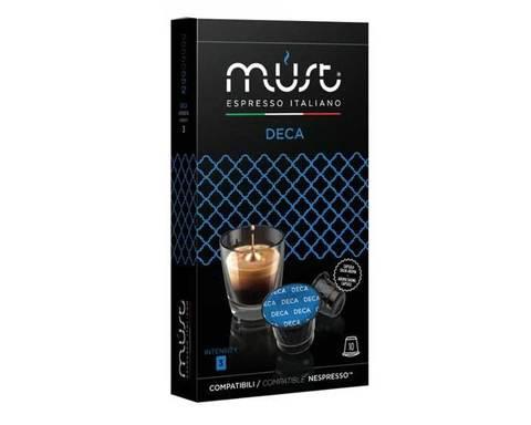 Кофе в капсулах Must Deca, 10 капсул для кофемашин Nespresso