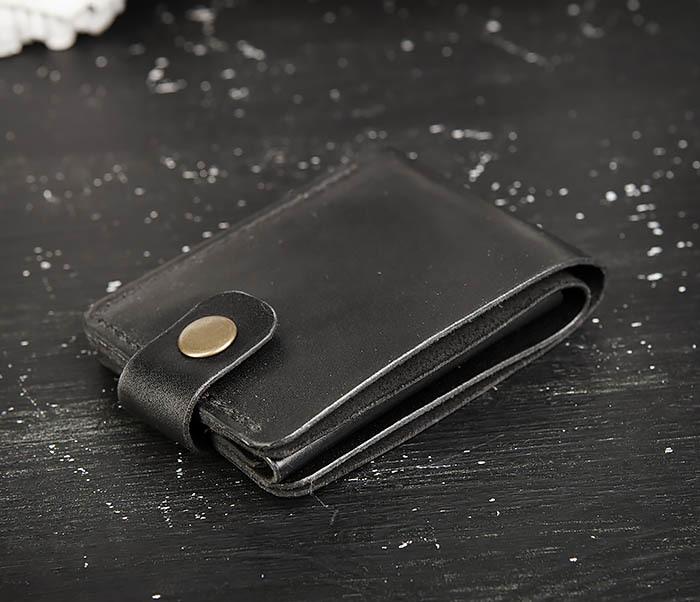 WB182-1 Мужское портмоне ручной работы с монетницей фото 03