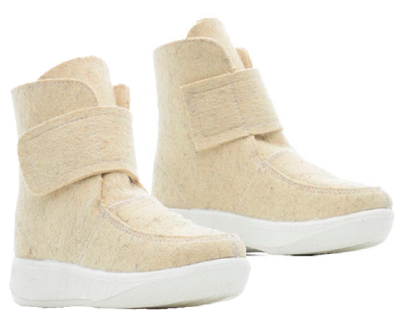 Валеная обувь Сапоги войлочные короткие белые 14523бел1.png
