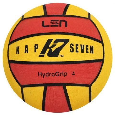 Официальный ватерпольный мяч KAP7 Official LEN Game Ball K7 4 yellow-red Размер 4 для женщин/юниоров арт.B-K7-LEN-4-0108