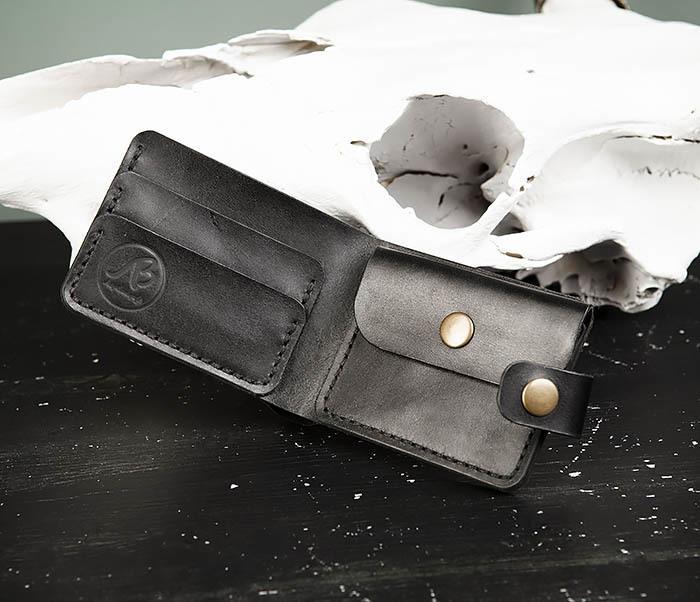 WB182-1 Мужское портмоне ручной работы с монетницей фото 04