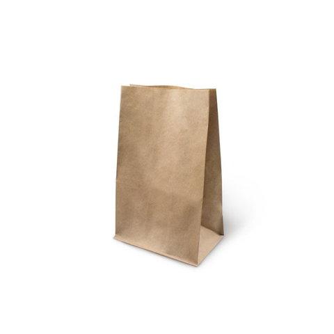 Бумажный крафт пакет без ручек, с прямоугольным дном, 180*120*290 мм