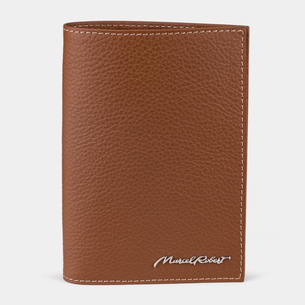 Обложка для паспорта и автодокументов Moscou Easy из натуральной кожи теленка, цвета карамель