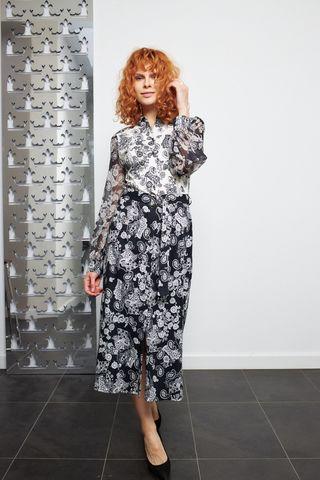 Desoto Платье трикотажное в контрастный узор пейсли