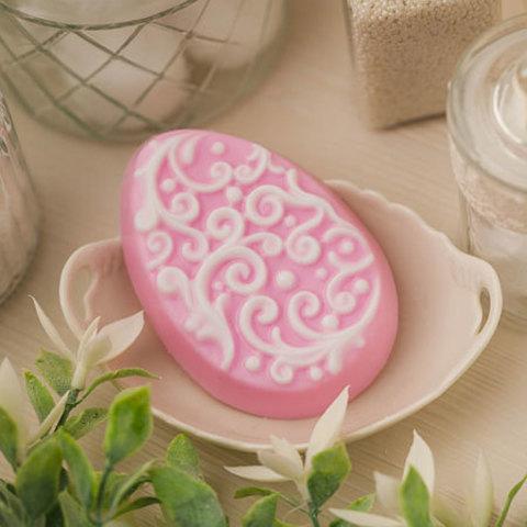 Пластиковая форма для мыла Яйцо с орнаментом 3
