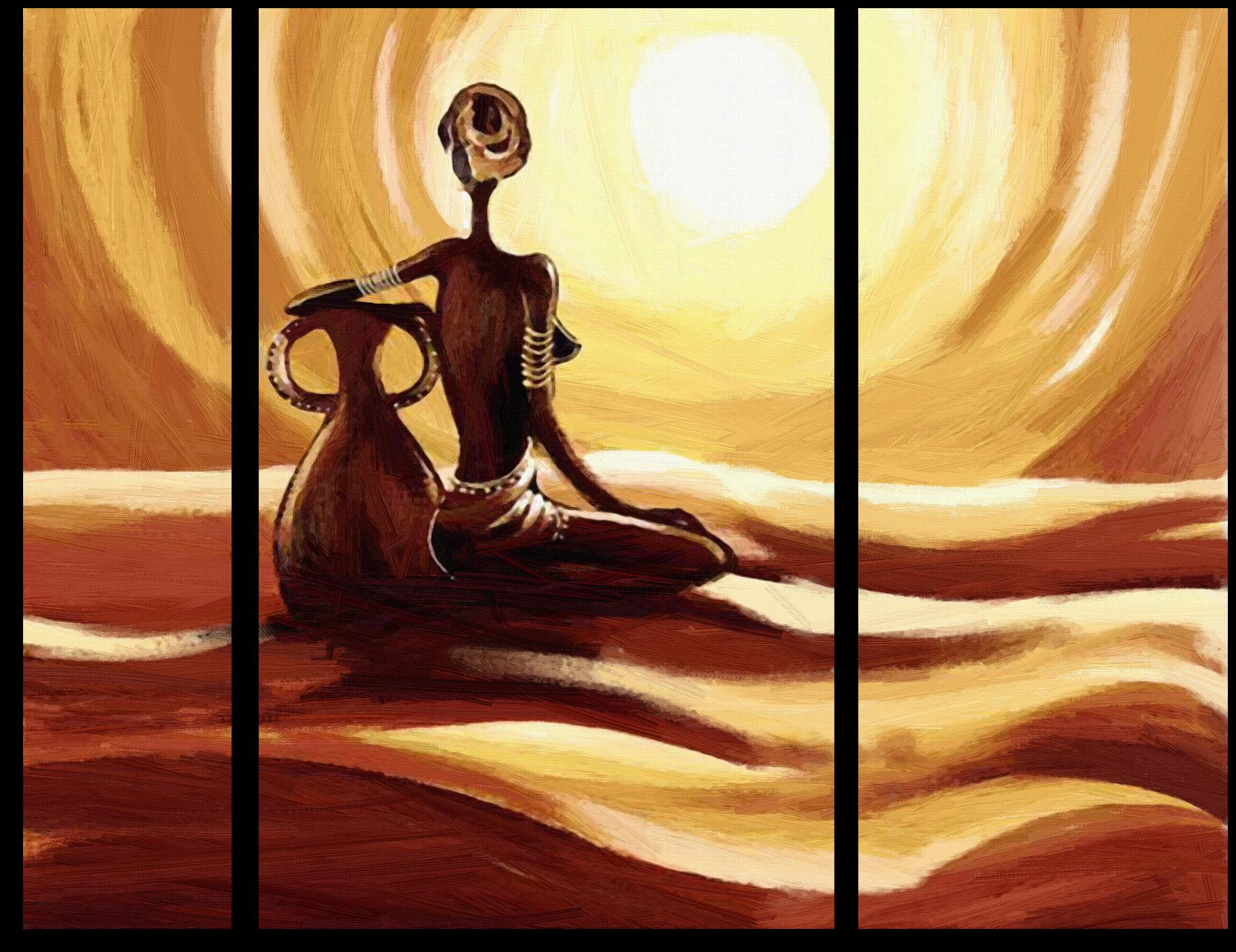 """Абстракция Модульная картина """"Женщина с кувшином"""" М534.png"""