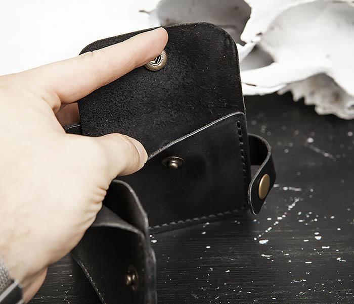 WB182-1 Мужское портмоне ручной работы с монетницей фото 05