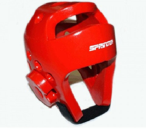 Шлем для тхеквондо. Размер L. Цвет красный. (ZTT-002К-L)